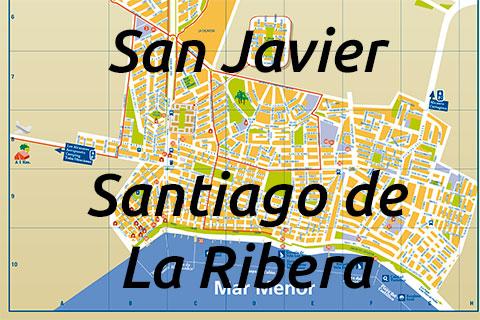 Callejero San Javier y Santiago de la Ribera