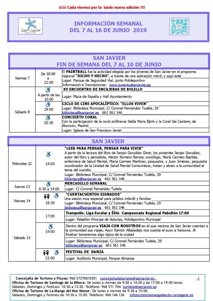 San Javier del 7 al 16 de junio