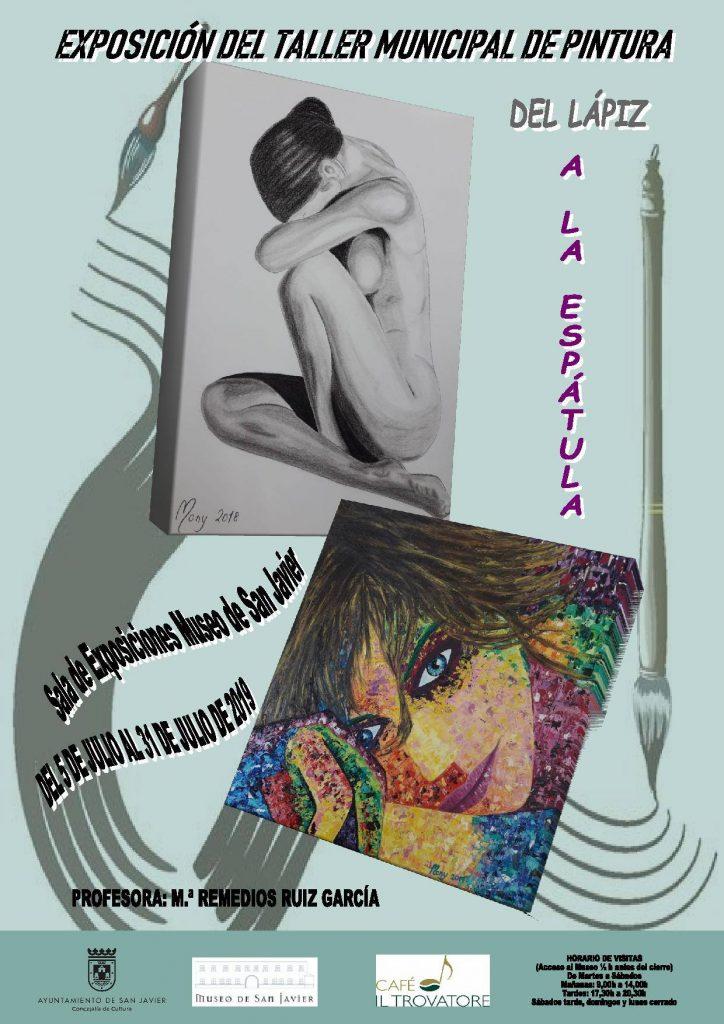 Cartel de la exposición de pintura