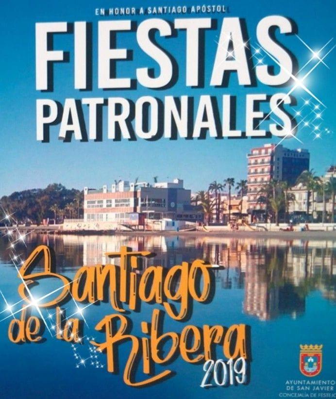 anuncio de las fiestas patronales de santiago de la ribera